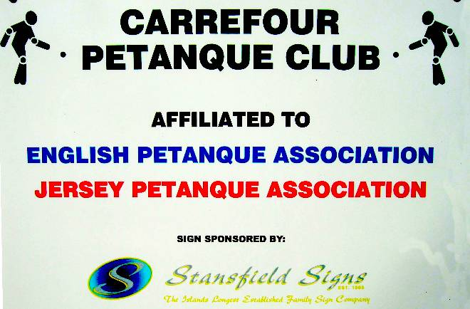 Stansfield Signs sponsors the Carrefour Petanque Club